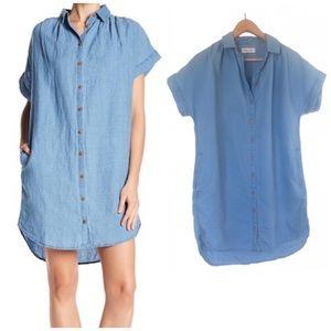 Madewell Central Linen Blend Shirt Dress size S